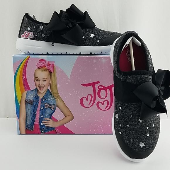 Jojo Siwa Black Bow Sneakers Size